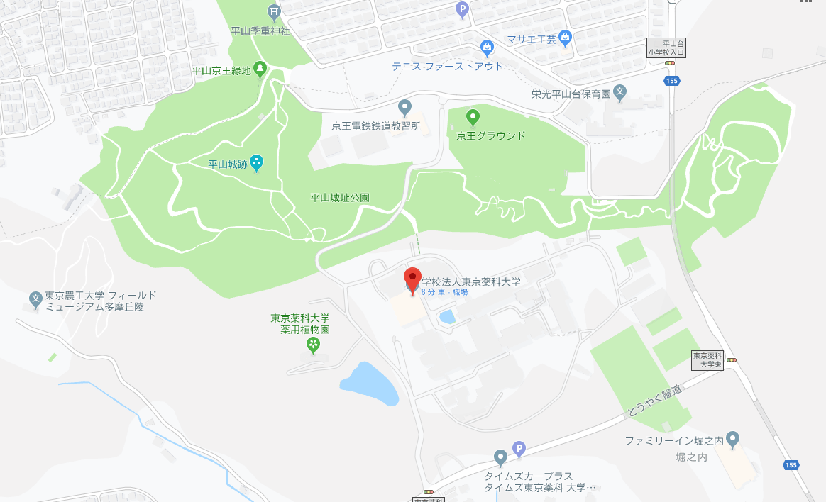 東京薬科大学の全体図